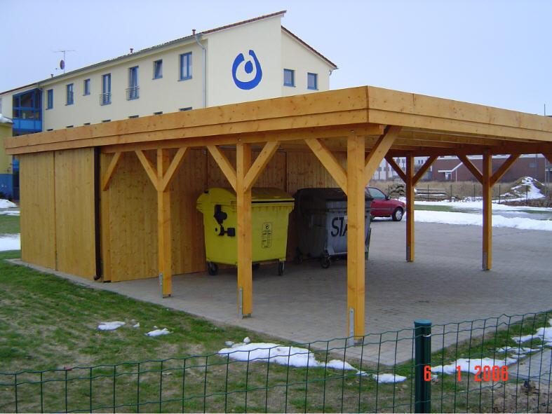 Carport 6,00 x 7,00 m Flachdach Leimholz Si natur
