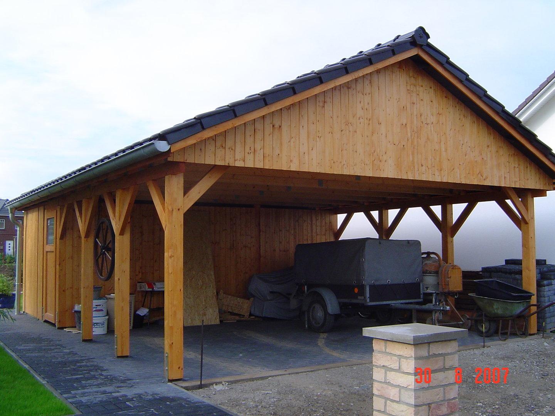 carport 5 00 x 9 00 m satteldach 25 fichte kvh abstellraum. Black Bedroom Furniture Sets. Home Design Ideas